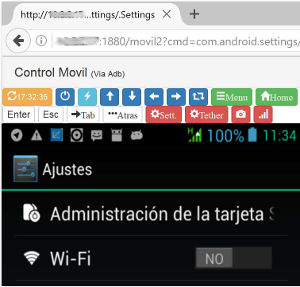 Control Remoto Movil Android (adb)